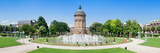 Water Tower in a Park, Wasserturm, Mannheim, Baden-Wurttemberg, Germany Photographic Print by  Panoramic Images
