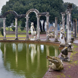 Reflecting Pool in Hadrian's Villa, Tivoli, Lazio, Italy Photographic Print