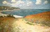 Path Through the Corn at Pourville Lmina maestra por Claude Monet