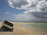 Boat on the Beach, Flic En Flac, Mauritius Photographic Print by Green Light Collection
