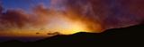Silhouette of Mountain at Dusk, Santa Barbara, California, USA Photographic Print by  Panoramic Images