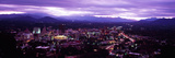 Aerial View of a City Lit Up at Dusk, Asheville, Buncombe County, North Carolina, USA Photographic Print by Panoramic Images