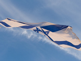 Low Angle View of an Israeli Flag Fluttering, Israel Fotografie-Druck