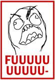 FUUUU- Rage Comic Meme Poster Posters
