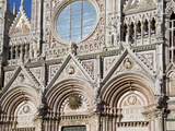 Architectural Detail of a Cathedral, Siena Cathedral, Siena, Tuscany, Italy Photographic Print