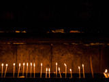 Burning Candles in a Church, Church of the Holy Sepulchre, Jerusalem, Israel Photographic Print