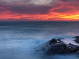 Coast at Sunset, L'Ile-Rousse, Haute-Corse, Corsica, France Photographic Print by  Panoramic Images