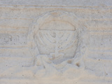 Menorah Carved on a Wall, Israel Photographic Print