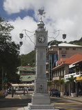 Clock Tower in a City, Victoria, Mahe Island, Seychelles Photographic Print by  Green Light Collection