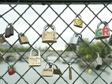 Love Locks on a Fence, Paris, Ile-De-France, France Photographic Print