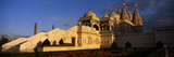 Formal Garden a Temple, Neasden Temple, Neasden, Wembley, London, England Photographic Print by  Panoramic Images