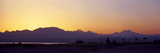 Silhouette of a Golf Course with Sinai Mountains in the Background, the Cascades Golf and Country . Photographie par Panoramic Images