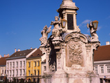 Fountain at a Town Square, Sopron, Hungary Photographic Print