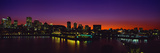 City Lit Up at Dusk, Montreal, Quebec, Canada 2010 Photographic Print by  Panoramic Images