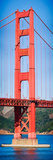 Suspension Bridge across a Bay, Golden Gate Bridge, San Francisco Bay, San Francisco, California... Photographic Print by  Panoramic Images