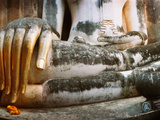 Giant Hand of Buddha Statue, Wat Si Chum, Sukhothai Historical Park, Sukhothai, Thailand Photographic Print by  Panoramic Images