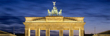 Quadriga Statue on Brandenburg Gate, Pariser Platz, Berlin, Germany Photographic Print by  Panoramic Images