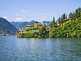 Villa at the Waterfront, Villa Del Balbianello, Lake Como, Lombardy, Italy Photographic Print