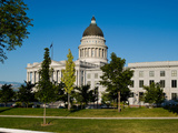 Garden in Front of Utah State Capitol Building, Salt Lake City, Utah, USA Photographic Print by  Panoramic Images