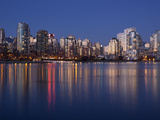 Downtown Skylines at the Waterfront, Yaletown, False Creek, Vancouver, British Columbia, Canada Photographic Print