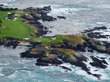 Golf Course on an Island, Pebble Beach Golf Links, Pebble Beach, Monterey County, California, USA Fotografisk tryk af Panoramic Images,