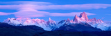 Lenticular Clouds and Pre-Dawn Light over Mountains, Mt Fitzroy, Cerro Torre, Argentine Glaciers... Photographic Print by  Panoramic Images
