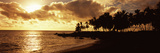 Sea at Sunset, Honomalino Beach, Hawaii, USA Photographic Print by  Panoramic Images