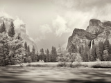 River Flowing Through a Forest, Merced River, Yosemite Valley, Yosemite National Park, Californi... Photographic Print by  Panoramic Images