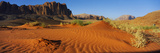 Jebel Qatar from the Valley Floor, Wadi Rum, Jordan Photographic Print by  Panoramic Images