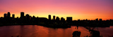 Silhouette of Buildings at Dusk, Montreal, Quebec, Canada 2010 Photographic Print by  Panoramic Images