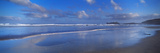 Beach at Sunrise, Gwithian Beach, Godrevy Lighthouse, Cornwall, England Photographic Print by  Panoramic Images