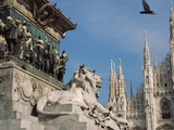 Statue of a Lion, Duomo Di Milano, Milan, Lombardy, Italy Photographic Print
