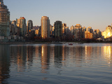 Downtown Buildings at the Waterfront, Yaletown, False Creek, Vancouver, British Columbia, Canada Photographic Print
