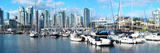 Boats at Marina with Vancouver Skylines in the Background, False Creek, British Columbia, Canada Photographic Print by  Panoramic Images