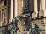 Statues on a Building, Budapest, Hungary Photographic Print