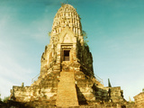Ruins of a Temple, Wat Ratburana, Ayutthaya Historical Park, Ayutthaya, Thailand Photographic Print by  Panoramic Images