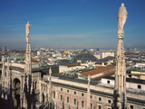 Buildings in a City, Duomo Di Milano, Milan, Lombardy, Italy Photographic Print