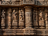Architectural Detail of Erotic Stone Carvings in a Temple, Sun Temple, Konark, Orissa, India Photographic Print