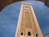 Minaret of a Mosque, Mosque Hassan Ii, Casablanca, Morocco Photographic Print