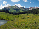 Man Fly-Fishing in Slate River, Crested Butte, Gunnison County, Colorado, USA Photographic Print by  Panoramic Images