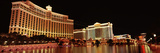 Hotel Lit Up at Night, Bellagio Resort and Casino, the Strip, Las Vegas, Nevada, USA Photographic Print by Panoramic Images
