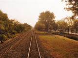 Railroad Track, Bangkok, Thailand Photographic Print by  Panoramic Images