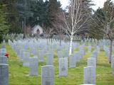 Veterans Cemetery, Victoria, British Columbia, Canada Photographic Print