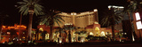 Hotel Lit Up at Night, Monte Carlo Resort and Casino, the Strip, Las Vegas, Nevada, USA Photographic Print by  Panoramic Images