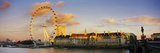 Ferris Wheel with Buildings at Waterfront, Millennium Wheel, London County Hall, Thames River, S... Photographic Print by  Panoramic Images