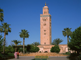 Minaret of a Mosque, Koutoubia Mosque, Marrakesh, Morocco Photographic Print