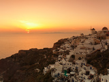 Village on a Cliff, Oia, Santorini, Cyclades Islands, Greece Photographic Print by  Panoramic Images