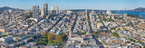 High Angle View of a City, Coit Tower, Telegraph Hill, San Francisco, California, USA Photographic Print by  Panoramic Images