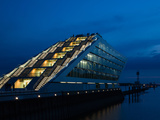 Office Building at the Waterfront, Dockland Office Building, Elbmeile, Hamburg, Germany Photographic Print
