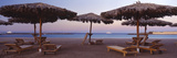 Lounge Chairs with Sunshades on the Beach, Hilton Resort, Hurghada, Egypt Photographic Print by  Panoramic Images